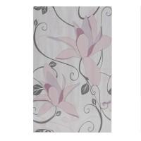Decor faianta baie / bucatarie Artiga Flower Lavender lucios violet 25 x 40 cm