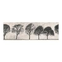 Decor faianta baie / bucatarie Willow Sky Tree ND039-006, gri deschis, 29 x 89 cm