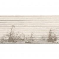 Faianta decor baie / bucatarie Panel Wood Ship rectificata bej mata 29.3 x 59.3 cm