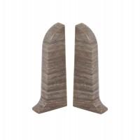 Terminatie pentru plinta, stanga / dreapta, Vilo Flex 553, PVC, stejar argintiu, 55 x 22 mm, 2 buc / set