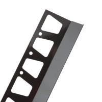 Profil picurator pentru balcon / terasa, Profiline, aluminiu, maro, RAL 8019, 2000 mm