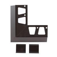 Coltar + 2 imbinari profil picurator pentru balcon / terasa, aluminiu, maro, RAL 8019