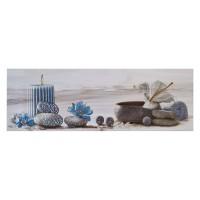 Decor faianta baie, Smila Vela Azul, lucios, 20 x 60 cm