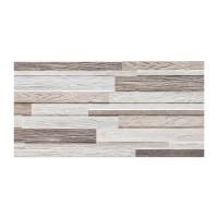Gresie exterior / interior portelanata, Woodmania Natural, mata, rectificata, alb + maro, imitatie lemn, 30 x 60 cm