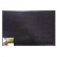 Covor intrare interior / exterior Hamat 314 Blitz 3D, poliester, antracit, dreptunghiular, 60 x 40 cm