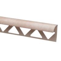 Profil PVC margine gresie si faianta, SET N31318, marmorat, crem deschis, 10 x 25 x 2.500 mm