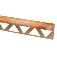 Profil PVC margine gresie si faianta, SET N31318, marmorat, bej, 10 x 25 x 2.500 mm