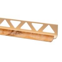 Profil PVC pentru colt interior, SET 32151, rigid, bej marmorat, 10 mm, 2.5 m