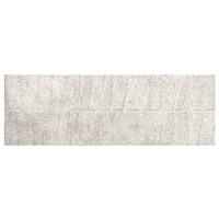 Faianta baie Kassel Relieve, rectificata, argintie, satinata, 32.77 x 100 cm