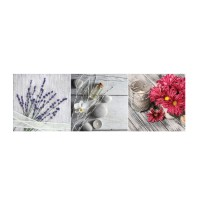 Decor faianta baie / bucatarie Salerno Flower Glass, 20 x 60 cm