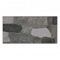 Gresie exterior / interior portelanata, Cancun, antiderapanta, mata, gri, imitatie piatra, 30 x 60 cm