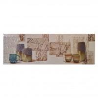 Decor faianta bucatarie Otonal, Opal Crema, lucios, crem, 20 x 60 cm