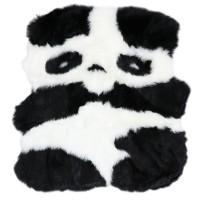 Covor camera copii Chip Panda YH-KTXM acril / poliester asimetric alb + negru 100 x 90 cm