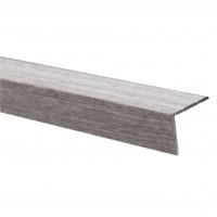 Profil de treapta din aluminiu S45, 25 x 20 mm, stejar gri, 300 cm