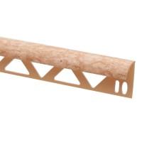 Profil PVC margine gresie si faianta, SET N31318, travertin marmorat, 10 x 25 x 2.500 mm