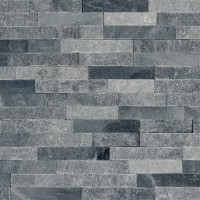 Piatra naturala decorativa Modulo Natimur Mix Black, interior / exterior, gri, 0.468 mp