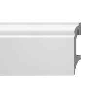 Plinta parchet duropolimer Vox Espumo ESP301, alb, 2500 x 80 x 16 mm