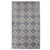 Covor living / dormitor Oriental Weavers Alice H 11/OH8, poliolefina chenila, dreptunghiular, gri + albastru, 80 x 140 cm