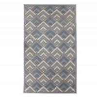 Covor living / dormitor Oriental Weavers Alice H 11/OH8, poliolefina chenila, dreptunghiular, gri + albastru, 200 x 285 cm