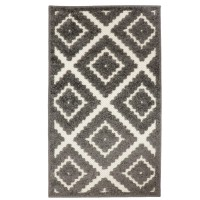 Covor living / dormitor Oriental Weavers Zenda E 524/PJ7, poliolefina, dreptunghiular, gri, 80 x 140 cm