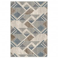 Covor living / dormitor Carpeta Delta 87631-43255 polipropilena heat-set dreptunghiular bej 60 x 110 cm