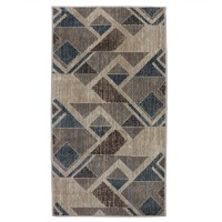 Covor living / dormitor Carpeta Delta 87631-43255 polipropilena heat-set dreptunghiular bej 200 x 300 cm