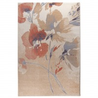 Covor living / dormitor Carpeta Matrix 57881-17933, polipropilena frize, dreptunghiular, coral,  60 x 110 cm