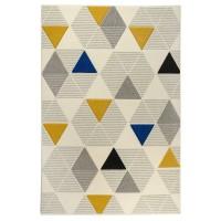Covor living / dormitor Carpeta Soho 57651-17223, polipropilena frize, dreptunghiular, crem, 60 x 110 cm