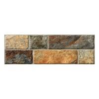 Gresie exterior / interior portelanata Pietra Nature, mata, maro, imitatie piatra, 16.5 x 50 cm