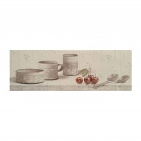 Decor faianta bucatarie Jazz Blanco Cocina Antik, lucios, alb, 25 x 75 cm