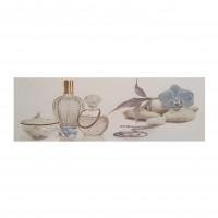 Decor faianta baie Jazz Blanco Bano Parfum, lucios, gri, 25 x 75 cm