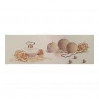 Decor faianta baie Shine Beige Bano Aura, lucios, bej, 25 x 75 cm