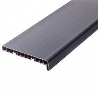Glaf PVC interior pentru ferestre SunnyPlast, gri antracit, 300 x 25 x 2 cm