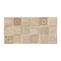 Faianta decor baie / bucatarie Cesarom, 2051-0193 Sibley Patch, lucioasa, bej, aspect marmura,  25 x 50 cm
