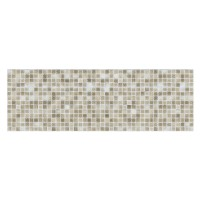 Faianta decor baie / bucatarie Shine, lucioasa, bej, model mozaic, 25 x 75 cm