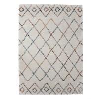 Covor living / dormitor Sherpa 53307-066, polipropilena heat-set, dreptunghiular, crem, 140 x 200 cm
