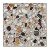 Gresie exterior portelanata Cesarom, 6035-0355 Camp, mata, multicolor, antiderapanta, imitatie pietre, 33 x 33 cm