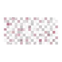 Faianta decor baie / bucatarie Cesarom, 2051-0196 Lines, lucioasa, roz, model mozaic,  25 x 50 cm