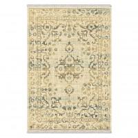 Covor living / dormitor Carpeta Atlas 88041-41744, polipropilena heat-set, dreptunghiular, bej + crem, 60 x 85 cm