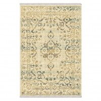 Covor living / dormitor Carpeta Atlas 88041-41744, polipropilena heat-set, dreptunghiular, bej + crem, 80 x 155 cm