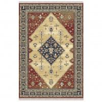 Covor living / dormitor Carpeta Atlas 86881-41745, polipropilena heat-set, dreptunghiular, bordo + crem, 80 x 155 cm