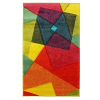 Covor living / dormitor Sintelon Vegas Pop 22 AMA, polipropilena, dreptunghiular, multicolor, 80 x 150 cm
