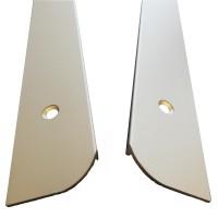 Profil stanga pentru protectia blatului de bucatarie, Profiline, aluminiu, 60 x 2.8 cm