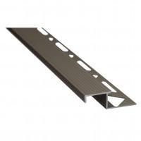Profil aluminiu pentru treapta, incorporabil, drept, SET S58 W, oliv, 2.5 m