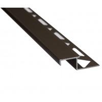Profil aluminiu pentru treapta, incorporabil, SET S58 W, bronz, 2.5 m