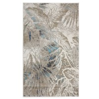 Covor living / dormitor Oriental Weavers Austin H 5604/OJ8, polipropilena, dreptunghiular, bej + turcoaz, 160 x 235 cm