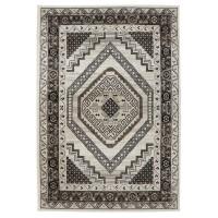 Covor living / dormitor Oriental Weavers Ferrera W 3335/EC9, polipropilena, dreptunghiular, bej + maro, 80 x 140 cm