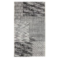Covor interior / exterior Oriental Weavers Acacia E 583/Q03, poliester + polipropilena, dreptunghiular, gri, 80 x 165 cm