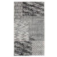 Covor interior / exterior Oriental Weavers Acacia E 583/Q03, poliester + polipropilena, dreptunghiular, gri, 160 x 235 cm