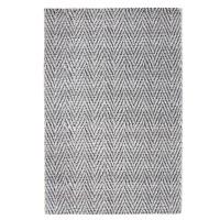 Covor interior / exterior Oriental Weavers Acacia E 683/Q03, poliester + polipropilena, dreptunghiular, alb + negru, 160 x 235 cm